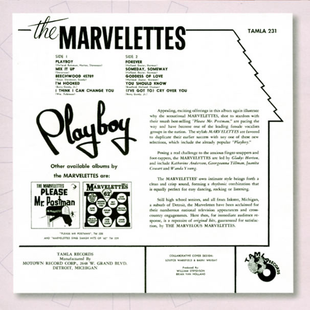 Marvelettes Playboy back cover