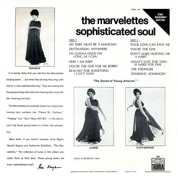 Sophisticated Soul Marvelettes